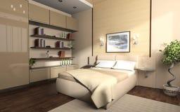 Interiore di una camera da letto Fotografia Stock Libera da Diritti