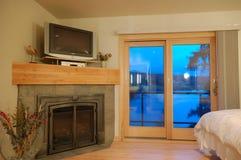 Interiore di una camera da letto dell'alta società Immagini Stock