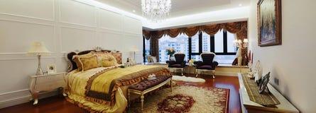 Interiore di una camera da letto di modo Immagini Stock