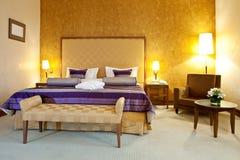 Interiore di una camera di albergo Fotografia Stock