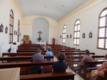 Interiore di una chiesa fotografia stock