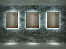 Interiore di una stanza con le maschere Fotografia Stock Libera da Diritti