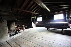Interiore di vecchio granaio immagine stock