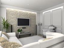 Interiore domestico classico. Fotografia Stock Libera da Diritti