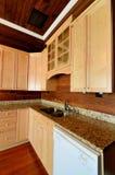 Interiore domestico della cucina Immagini Stock