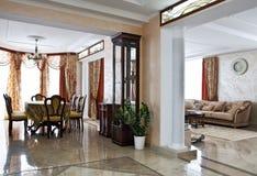 Interiore domestico di lusso fotografie stock