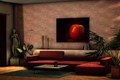 Interiore domestico moderno fotografia stock libera da diritti