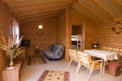 Interiore domestico rustico fotografie stock libere da diritti