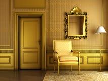 Interiore dorato classico Immagine Stock
