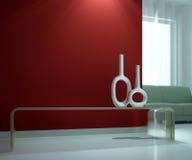 Interiore e sofà Fotografie Stock Libere da Diritti