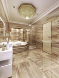 Interiore elegante della stanza da bagno Immagine Stock