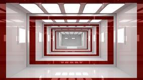 Interiore futuristico Fotografia Stock