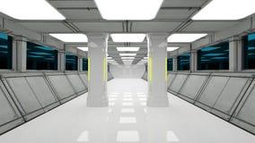 Interiore futuristico illustrazione di stock