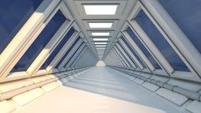 Interiore futuristico Fotografia Stock Libera da Diritti