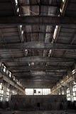 Interiore industriale abbandonato Immagini Stock Libere da Diritti