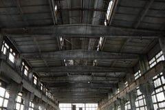 Interiore industriale abbandonato Fotografie Stock Libere da Diritti