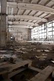 Interiore industriale abbandonato Fotografie Stock