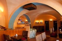 Interiore italiano del ristorante Fotografia Stock Libera da Diritti
