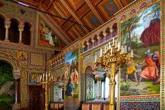 Interiore lussuoso del castello di Neuschwanstein. Fotografie Stock