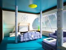 Interiore marino in uno stile moderno Immagini Stock