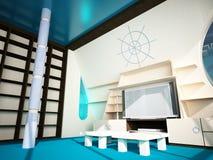 Interiore marino in uno stile moderno Fotografia Stock