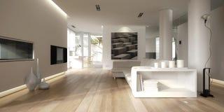 Interiore minimalista bianco Fotografia Stock