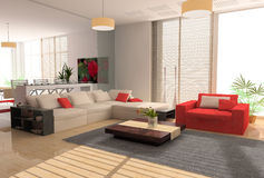Interiore moderno royalty illustrazione gratis