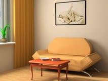 Interiore moderno 3d Fotografia Stock Libera da Diritti
