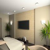 Interiore moderno. 3D rendono Fotografia Stock Libera da Diritti