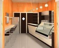 Interiore moderno - barra Fotografie Stock Libere da Diritti