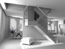 Interiore moderno in bianco Fotografie Stock