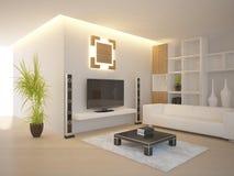 Interiore moderno bianco Immagine Stock