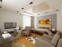 Interiore moderno. Camera da letto. Immagini Stock