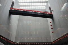 Interiore moderno cinese della costruzione Fotografie Stock