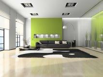 Interiore moderno con il sofà Fotografia Stock Libera da Diritti