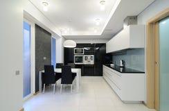 Interiore moderno. Cucina Fotografia Stock Libera da Diritti