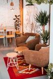 Interiore moderno del caffè immagini stock