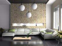 Interiore moderno del drawing-room Fotografia Stock Libera da Diritti
