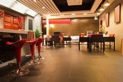 Interiore moderno del ristorante o della barra Fotografia Stock