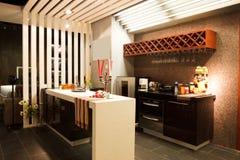 Interiore moderno del ristorante o della barra Fotografie Stock Libere da Diritti