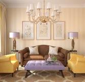 Interiore moderno del salone. royalty illustrazione gratis
