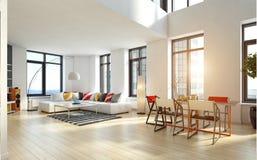 Interiore moderno dell'appartamento fotografia stock libera da diritti