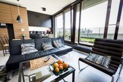 Interiore moderno dell'appartamento Fotografie Stock
