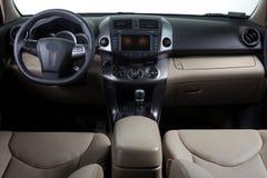 Interiore moderno dell'automobile Fotografie Stock