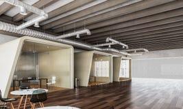 Interiore moderno dell'ufficio 3d rendono Immagini Stock