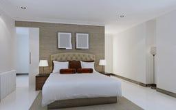 Interiore moderno della camera da letto Immagine Stock