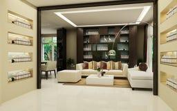 Interiore moderno della casa Fotografie Stock Libere da Diritti