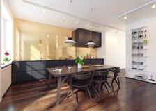 Interiore moderno della cucina fotografie stock