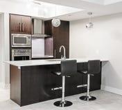 Interiore moderno della cucina Fotografia Stock