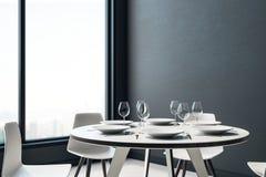 Interiore moderno della sala da pranzo royalty illustrazione gratis